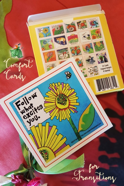COMFORT CARDS FOR TRANSITIONS
